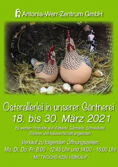Osterallerlei in der Gärtnerei der Antonia-Werr-Zentrum GmbH
